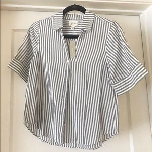 New With Tag! J Crew Size PXS Striped Blouse